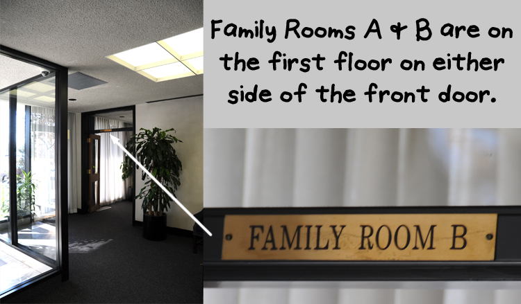 Family Rooms A & B in the Administrative Building at Arlington National Cemetery