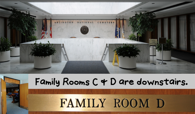Family Rooms C & D in the Administrative Building at Arlington National Cemetery